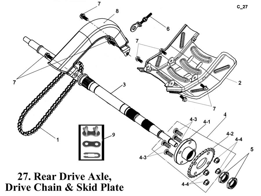 Rear Drive Axle Cain and Skip Plates