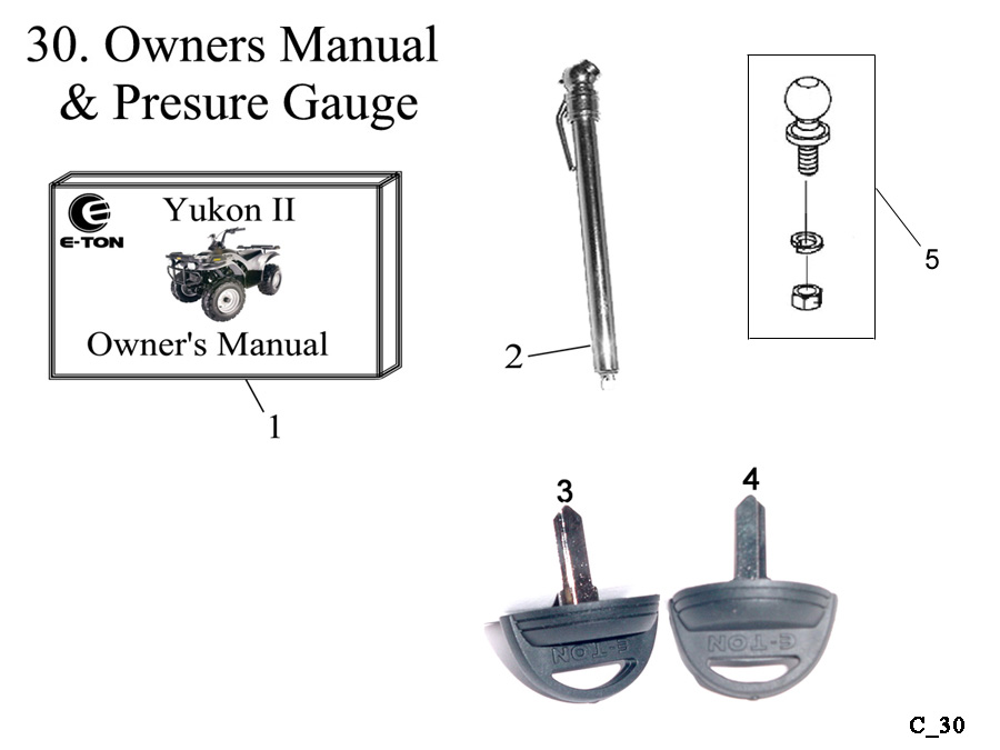 Tire Gauge and Owners Manual