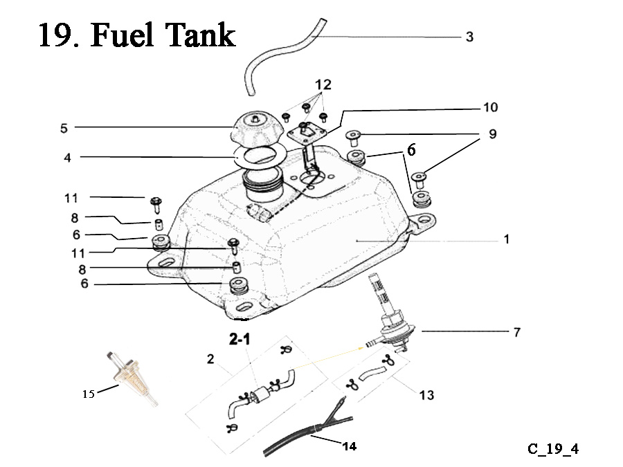 Fast Shipping on E-Ton Viper RXL150R ATV Fuel Tanks-Gas Caps-Fuel Valves (Petcocks) + other fuel related parts