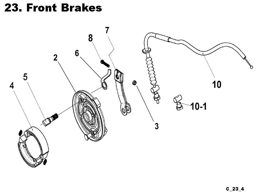 Fast Shipping-Eton Viper RXL150R09 ATV Front Brakes Shoes, Cables, and Other brake parts