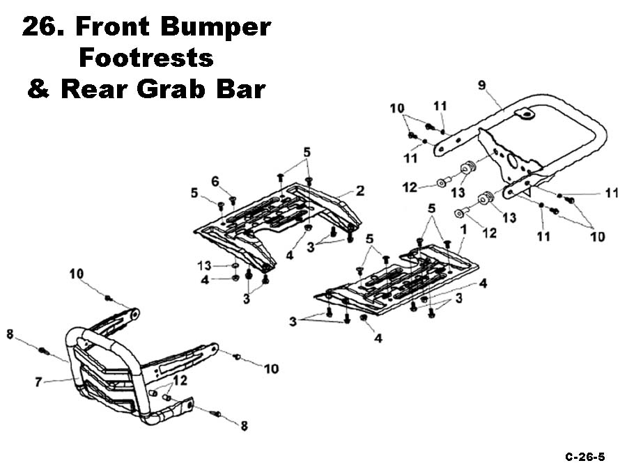 Footrest Bumper and Rear Grab Bar