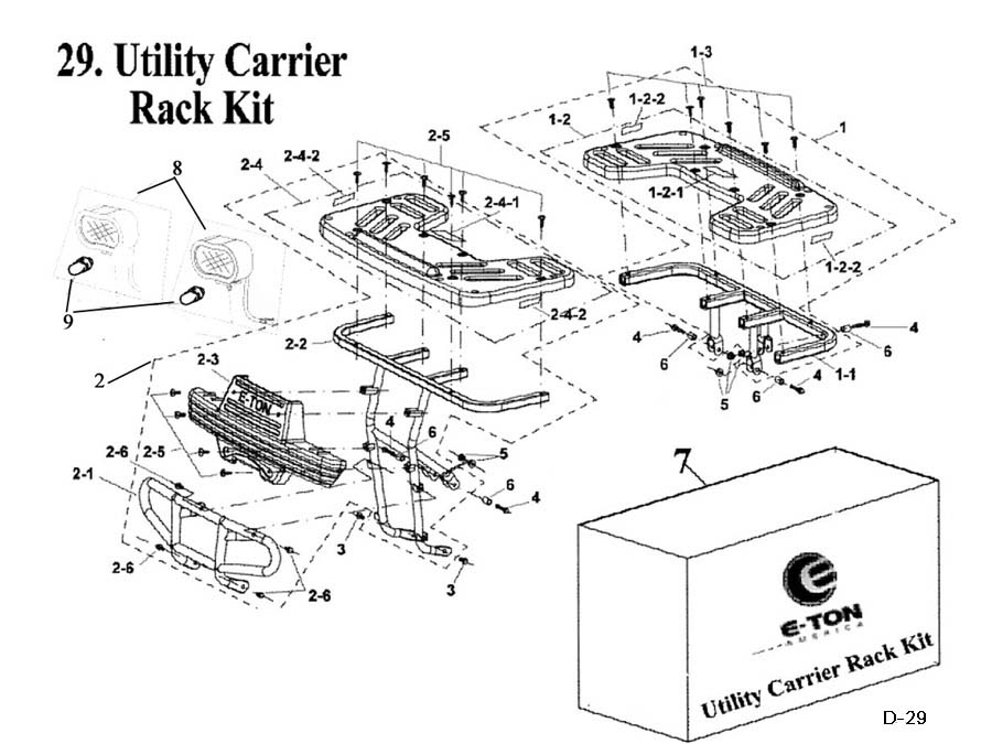 Utility Carrier Rack Kit