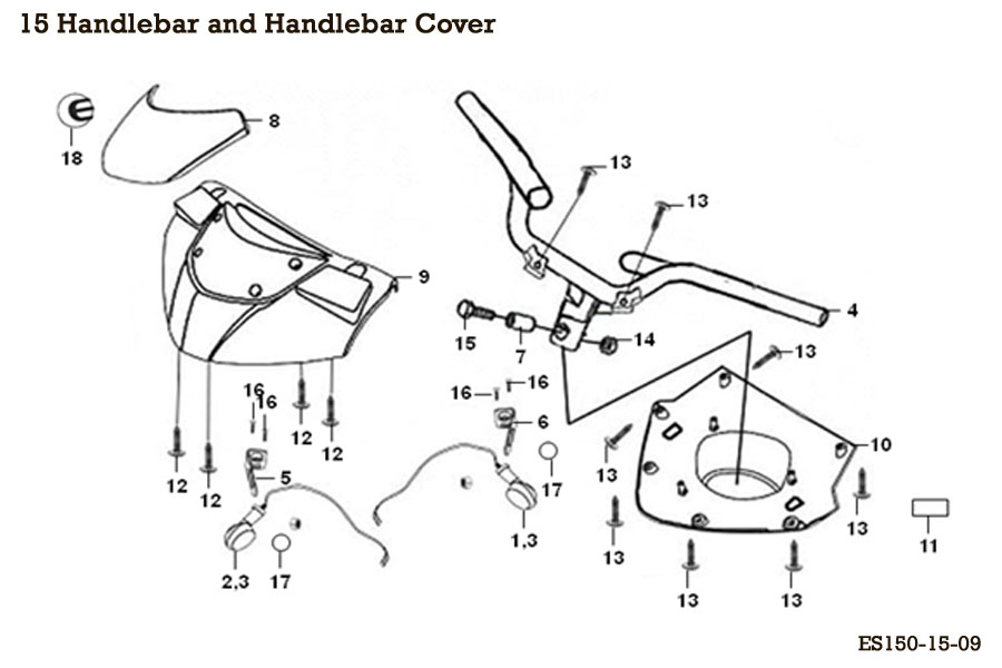 Handlebar and Handlebar Cover