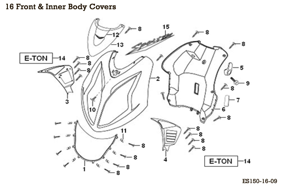 Front & Inner Body Covers