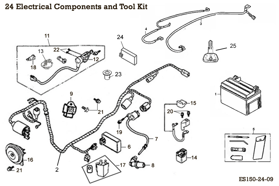 Electrical Components and Tool Kit
