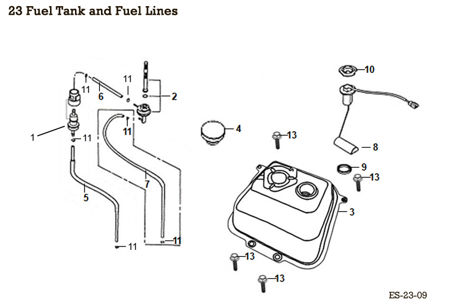 Fuel Tank and Fuel Lines