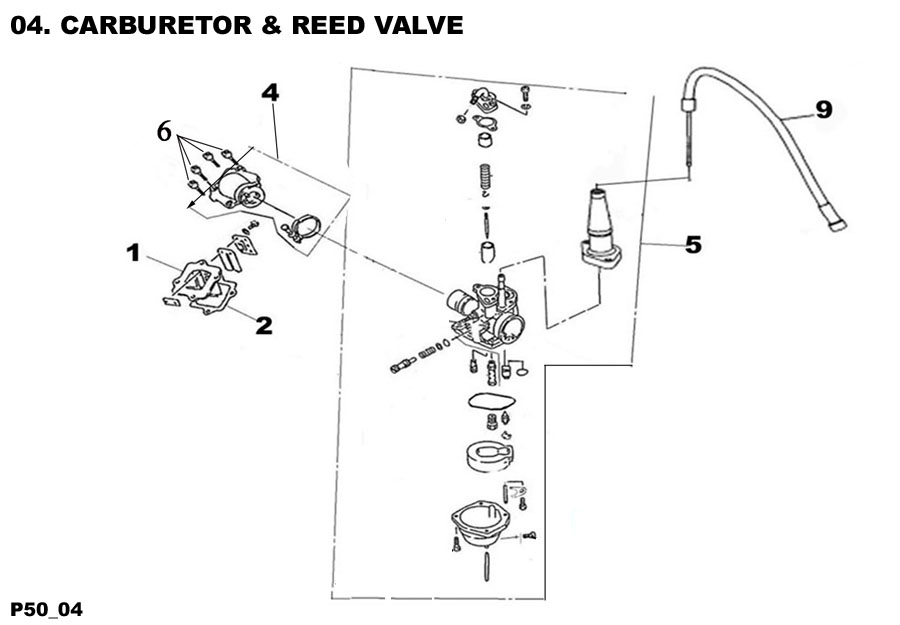 Carburetor and Reed Valve