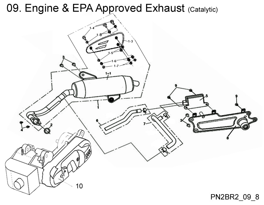 Engine and EPA Approved Exhaust