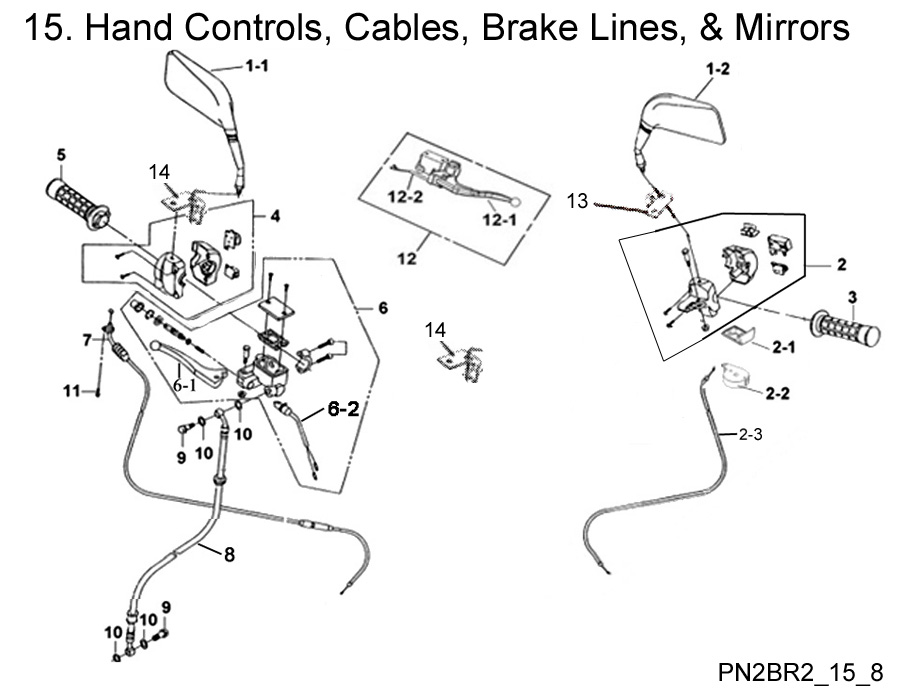 Hand Controls, Brake Lines, and Mirrors