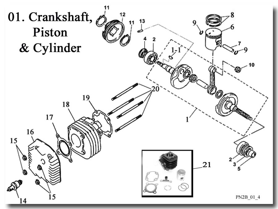 Crankshaft Piston and Cylinder