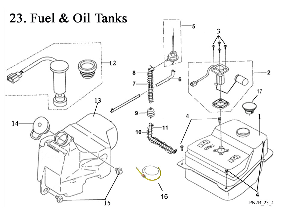 Fuel and Oil Tanks