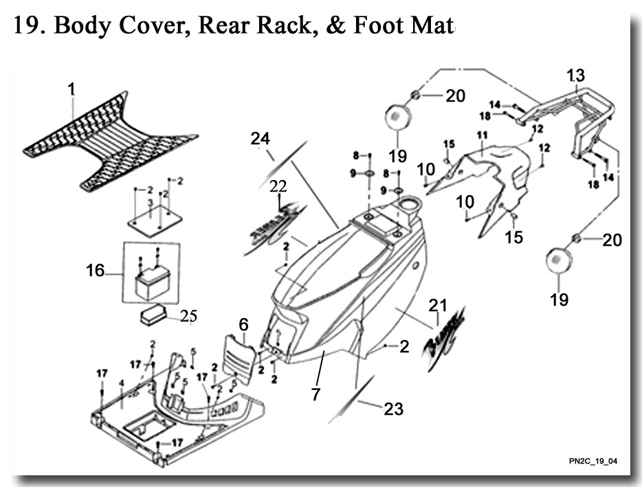 Body Cover Rear Rack and Foot Mat