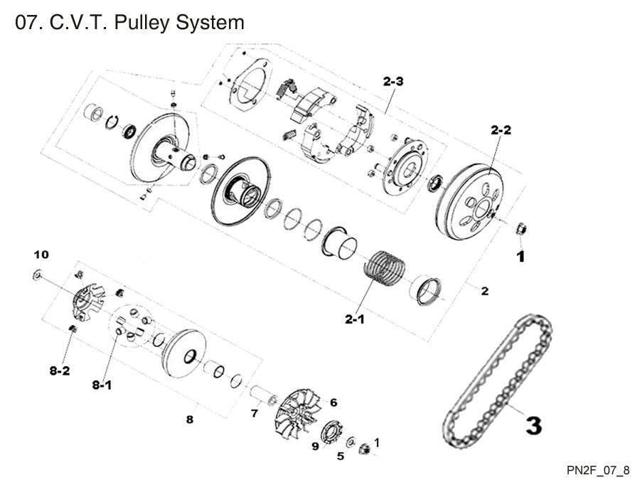 C.V.T. Pulley System