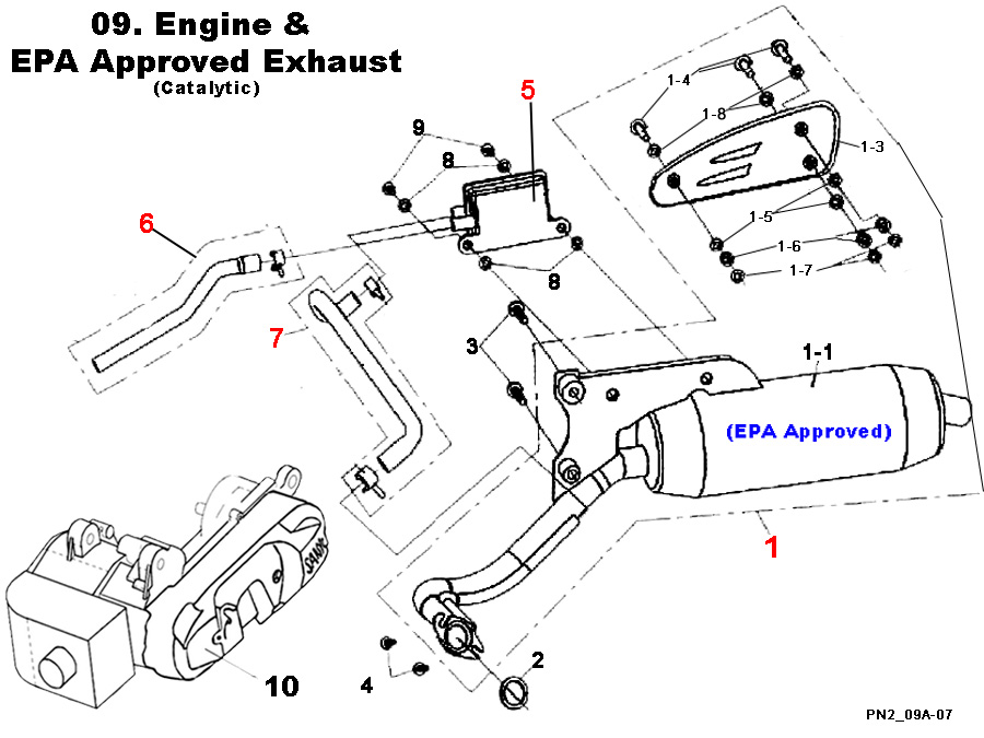Engine & EPA Approved Exhaust