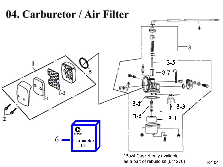 Eton Viper Jr RXL40 Carburetor-Air Filter.Fast Shipping-Quality Parts, #1 in E-ton ATV Parts Distribution