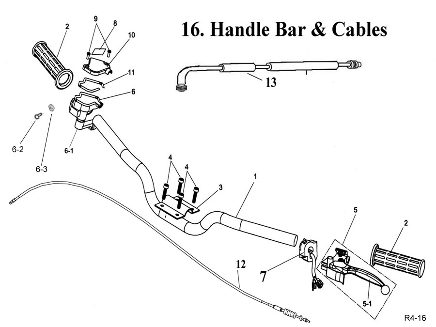 Handle Bar and Cables