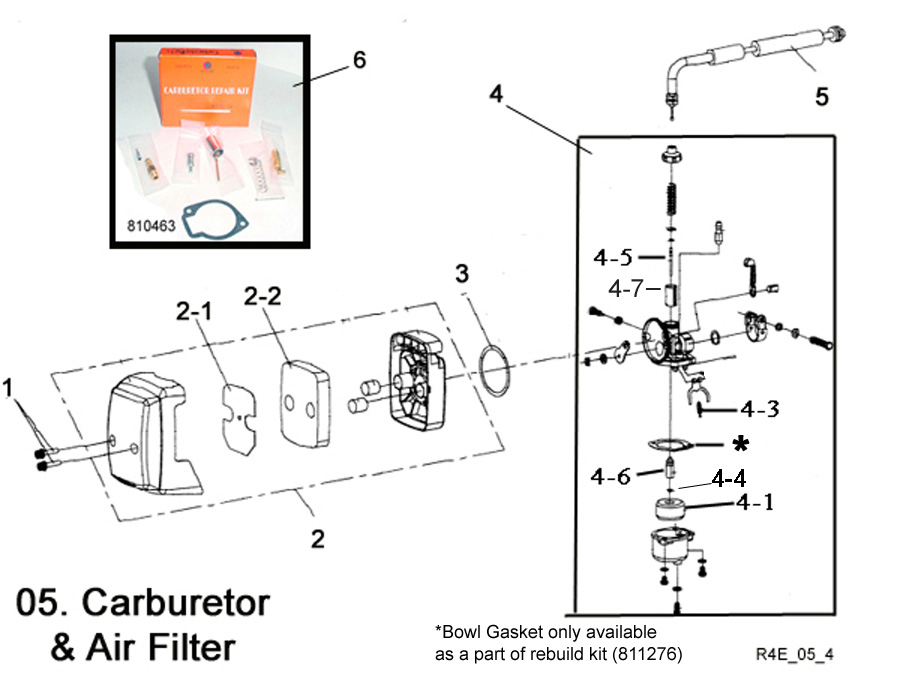 Carburetor and Air Filter