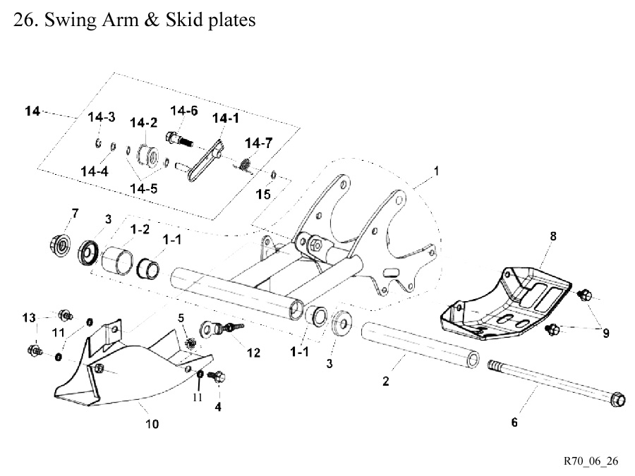Swing Arms and Skid Plates