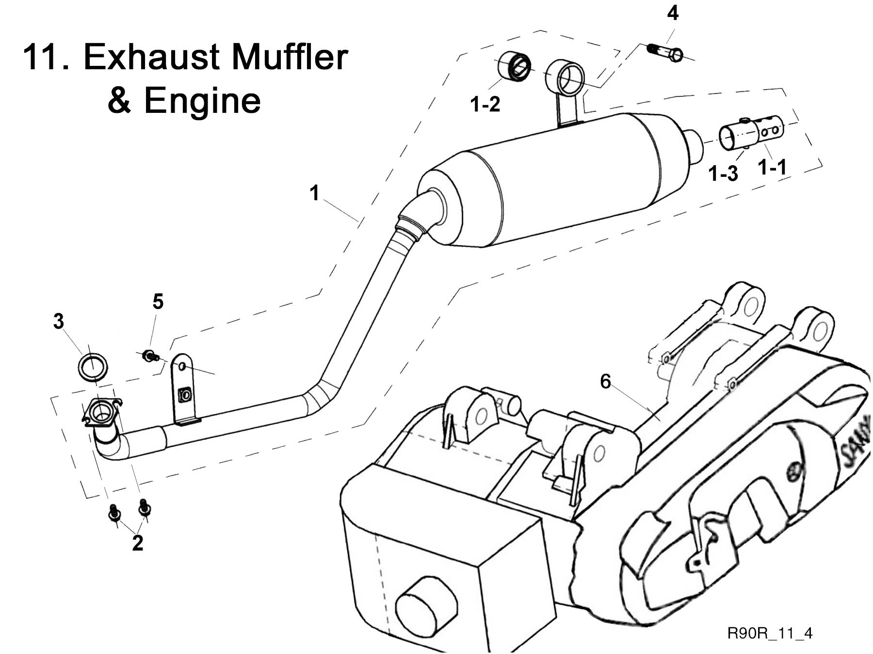Exhaust System and Engine
