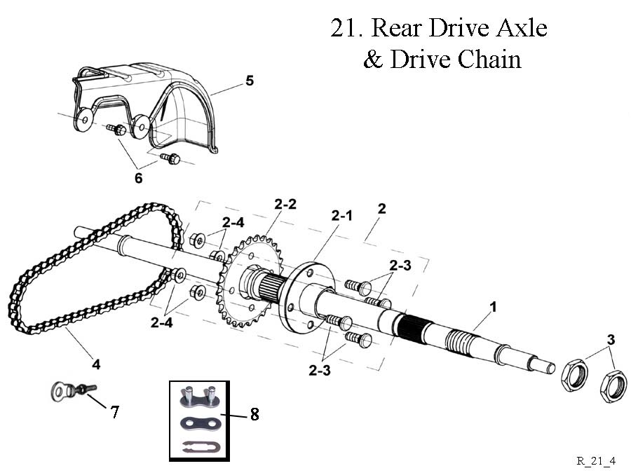 Rear Drive Axle and Drive Chain