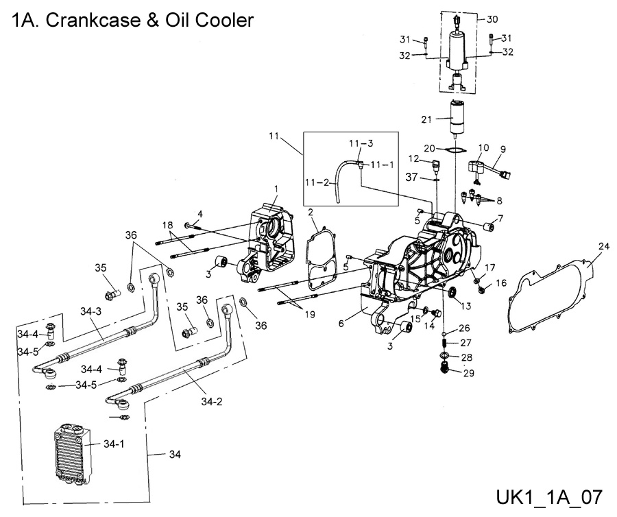 Crankcase & Oil Cooler
