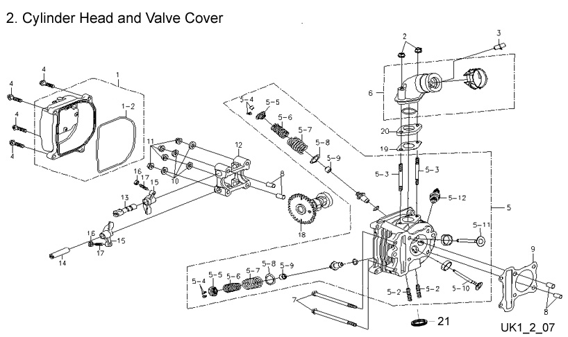 Cylinder Head and Valve Cover