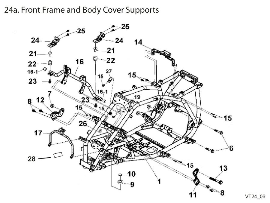 Front Frame and Body Cover Supports
