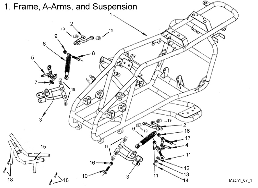 Frame, A-Arms, and Suspension