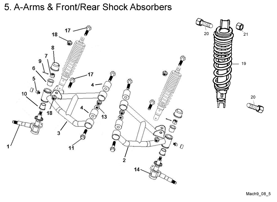 A-Arms and Front & Rear Shock Absorbers